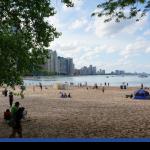Tem praia em Chicago!