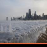 O frio de Chicago em imagens sensacionais