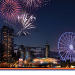 Fogos de artifício são atração no verão de Chicago